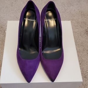 Pierre Hardy purple suede pumps